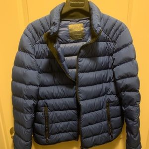 Zara Blue Puffer Jacket
